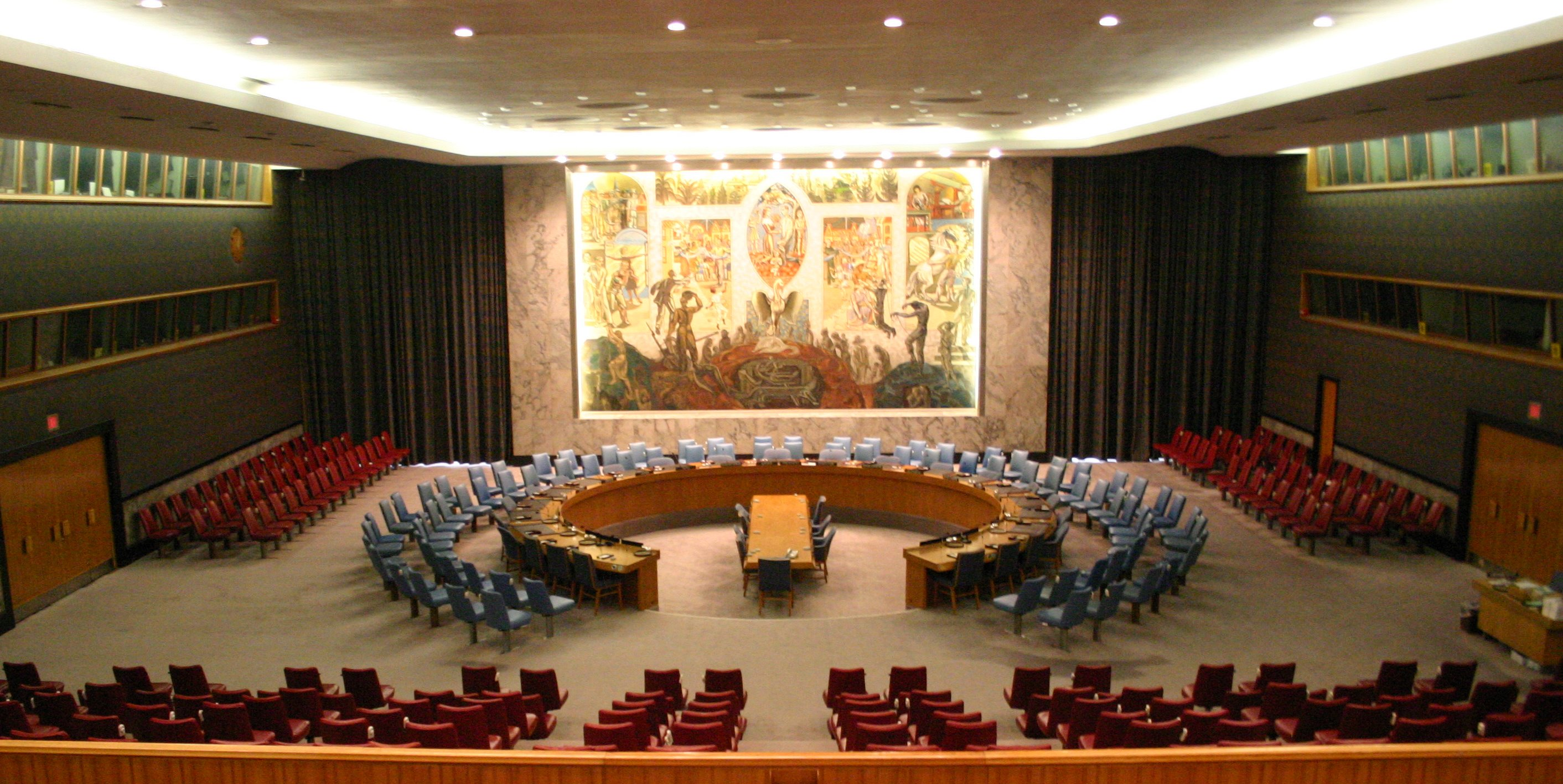 security council The security council shall be presided over by a president who will declare the opening and closing of each security council meeting, direct the discussion of the council meetings, ensure the observance of these rules, accord the right to speak, put questions, and announce decisions.