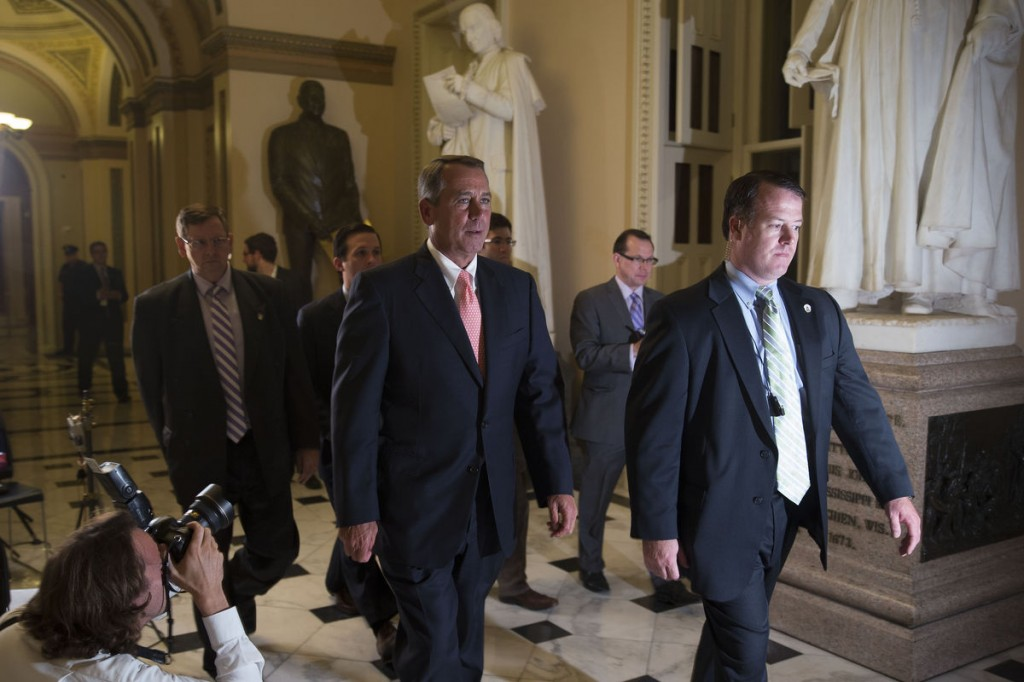 Speaker Boehner the night of the government shutdown. Photo by Andrew Harrer/Bloomberg