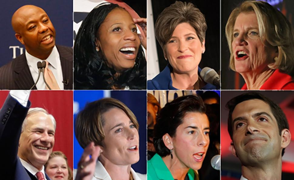From NYDaily News: Tim Scott, Mia Love, Joni Ernst, Shelley Moore Capito, Greg Abbott, Maura Healey, Gina Raimondo, U.S. and Tom Cotton all made history with their elections on Tuesday.