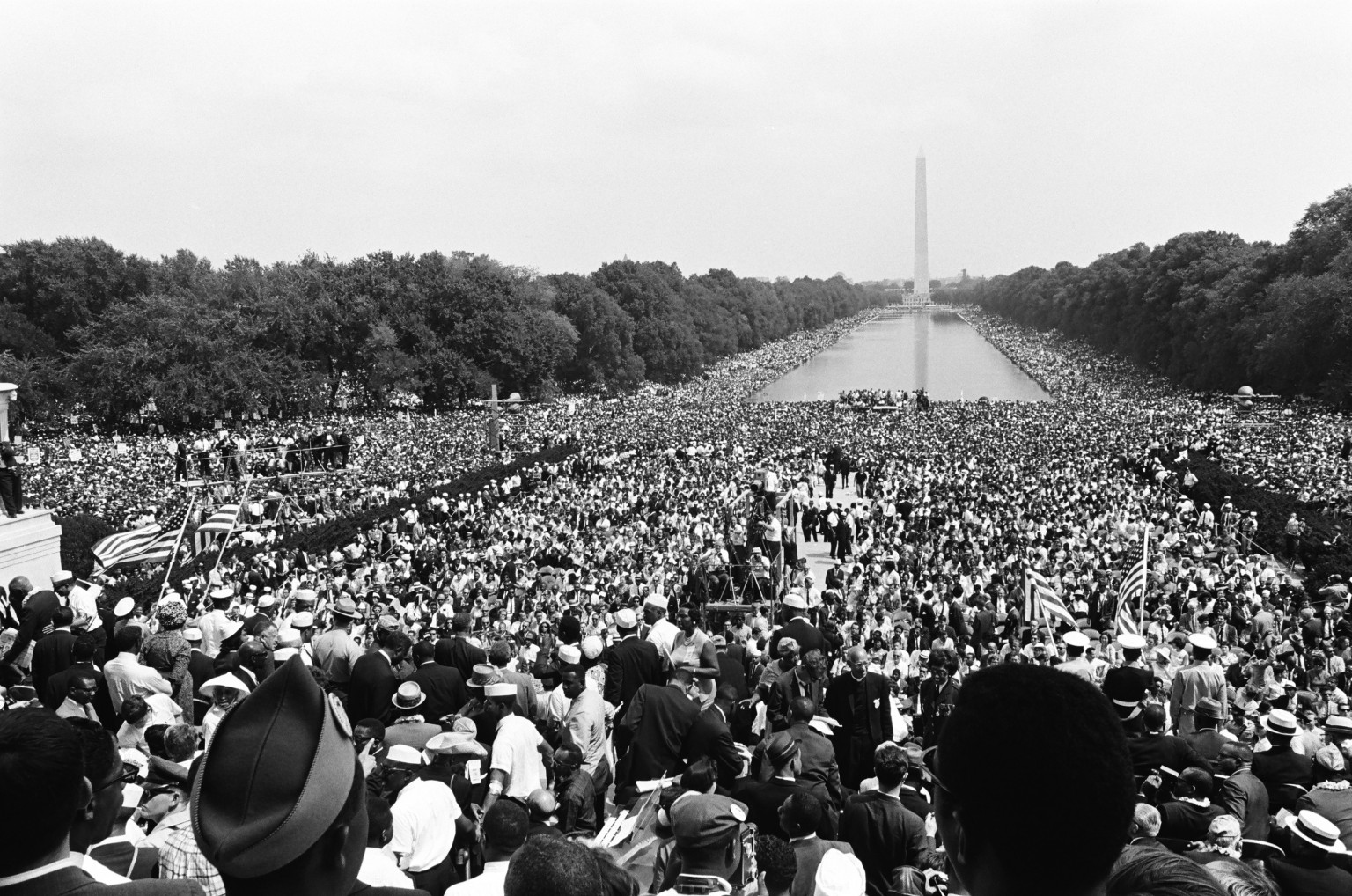 NBC News -- MARCH ON WASHINGTON FOR JOBS AND FREEDOM 1968 -- Pictured: Crowds gather at the National Mall during the March on Washington for Jobs and Freedom political rally in Washington, DC on August 28, 1963 -- (Photo by: NBC/NBCU Photo Bank via Getty Images)