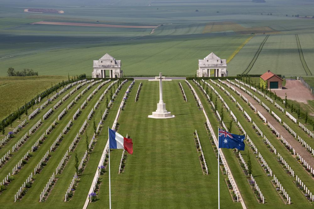 France: Australian Cemetery in the Vallee de la Somme in France. Image courtesy of Steve Allen / Shutterstock.com