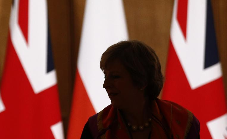 Britain's Prime Minister Theresa May arrives for a news conference with her Polish counterpart Beata Szydlo in10 Downing Street in central London, Britain November 28, 2016.     REUTERS/Peter Nicholls
